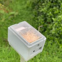 Includes the following: Fondant for feed,perspex screen to view the bees and a straw nest,